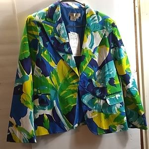 NWT.. TRANSTIONS TROPICAL LEAF JACKET